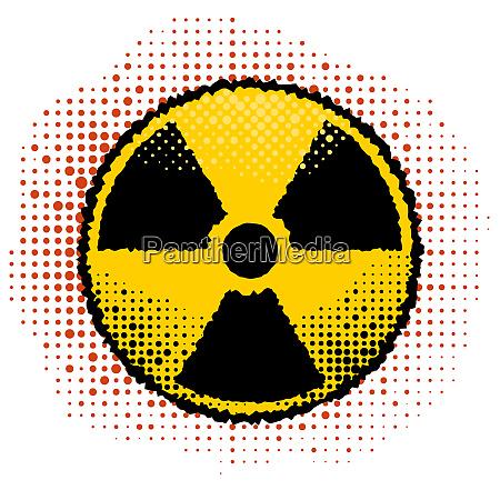 ionisierende strahlung zeichen radioaktive kontamination symbol