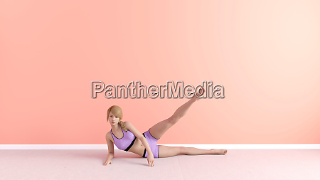 bein stretch yoga pose