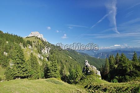 westseite der kampenwand und der alpen