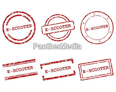 e scooter briefmarken