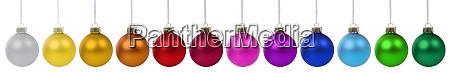 bunte weihnachtskugeln kugeln banner dekoration in