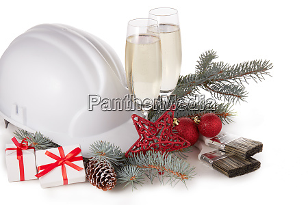 bau harten hut und weihnachten