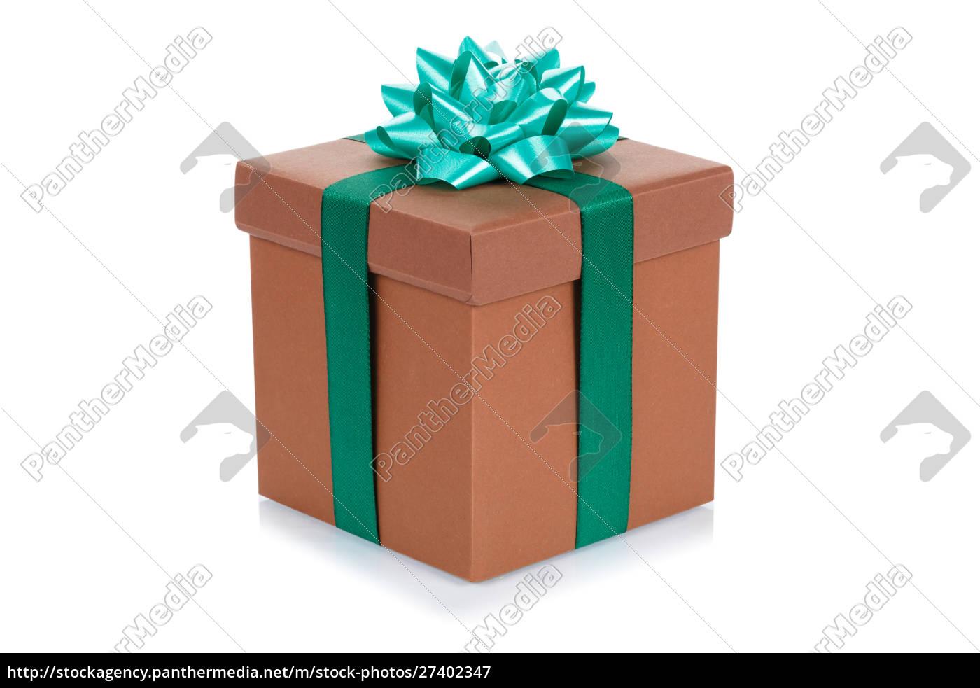 geburtstagsgeschenk, weihnachten, geschenk, braun, ebox, isoliert - 27402347
