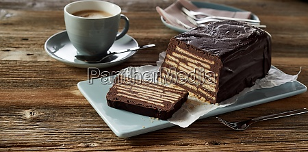 kellerkuchen cake served with cup of