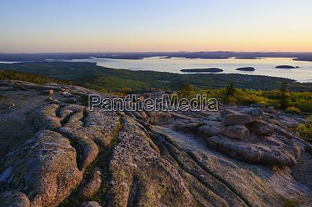 granite rock formations at sunrise in