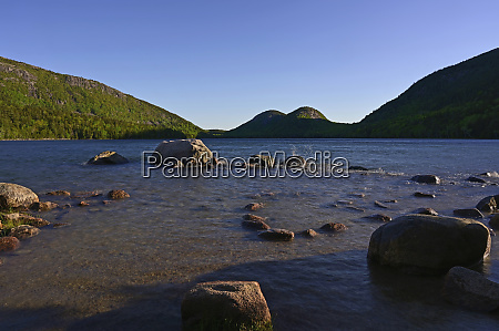 jordan pond in acadia nationalpark vereinigte