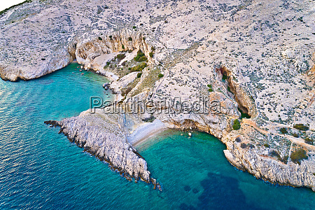 island of krk idyllic pebble beach