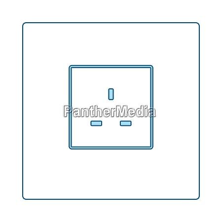 grossbritannien elektrische steckdose icon