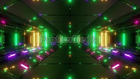 futuristische sci fi raum tunnel korridor
