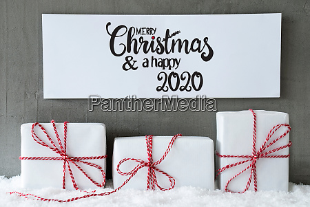 drei geschenke zeichen schnee frohe weihnachten