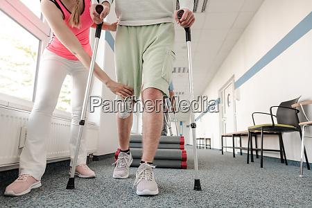 menschen in der rehabilitation lernen wie
