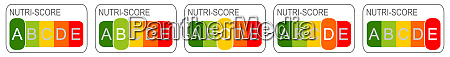 nutri score label 5 farbiges naehrwertlabel