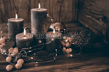 weihnachtsdekoration im retro stil