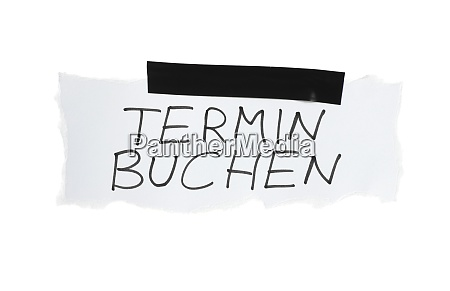 make appointment german on white paper