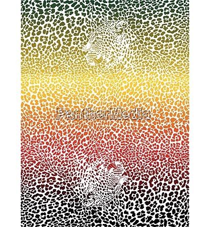farbhintergrund mit leoparden