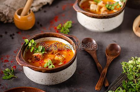 kuerbis chili suppe