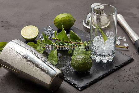 bartender werkzeug mojito cocktail