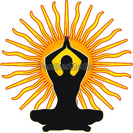 chakra achtsamkeit spiritualmeditation mantra illustration sonnenenergie