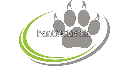 cat paw paw cats logo icon