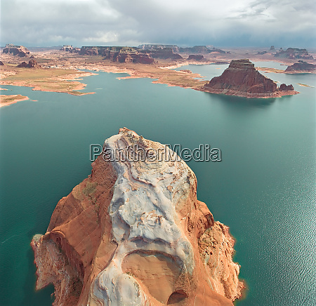 aerial view of the lake powell