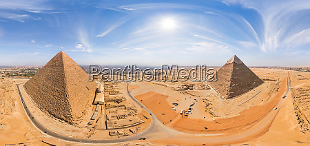 panoramic aerial view of the great