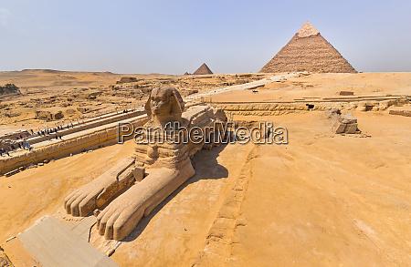 luftaufnahme der grossen sphinx von gizeh