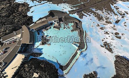 luftaufnahme des thermal resort blue lagoon