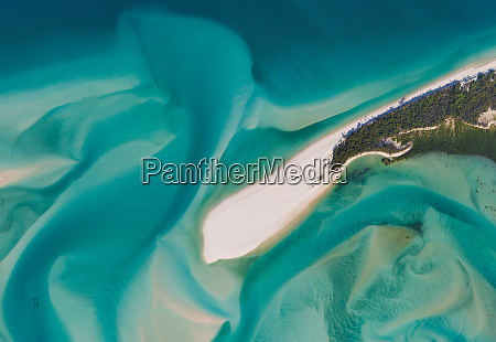 aerial view of an isolated island