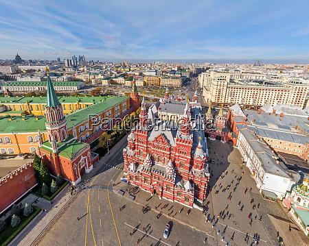 luftaufnahme des kremls in moskau russland
