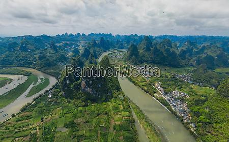 luftaufnahme der guilin mountains china