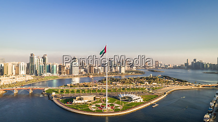 aerial view of flag island and