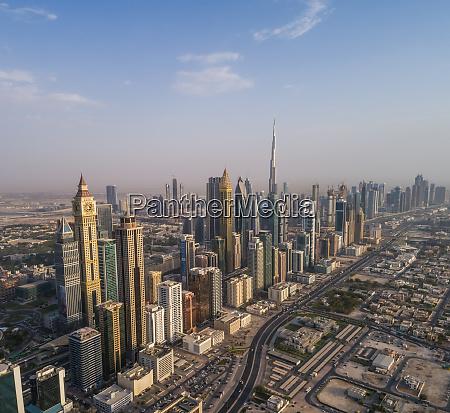 luftaufnahme des burj khalifa tower und