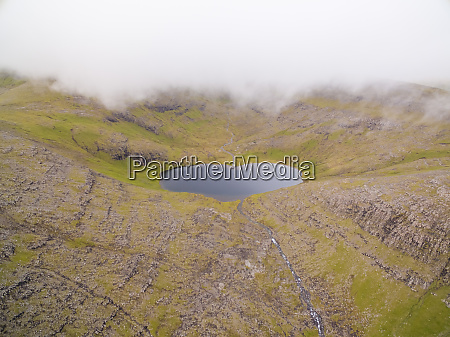 aerial view of vatnsdalsvatn lake on