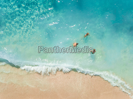 aerial view of group enjoying the