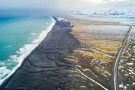 aerial view of diamond beach and