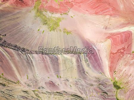 luftbildner der bunten vinicunca regenbogenberg peru