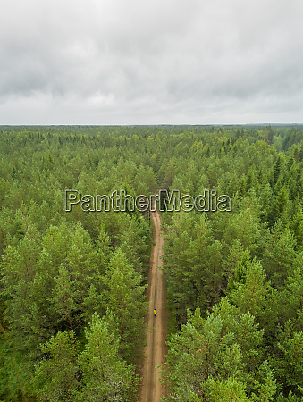 aerial view of man standing in