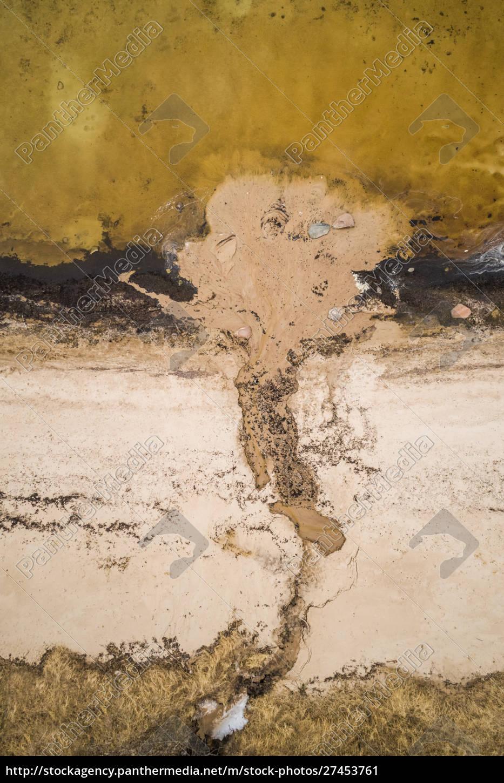 luftaufnahme, der, abstrakten, küste, estland - 27453761