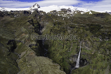 aerial view of beautiful canyon in