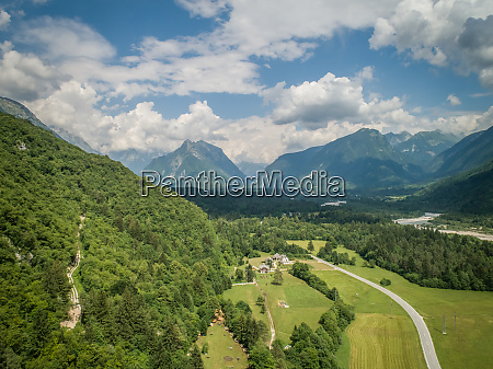 aerial view of the soca valley