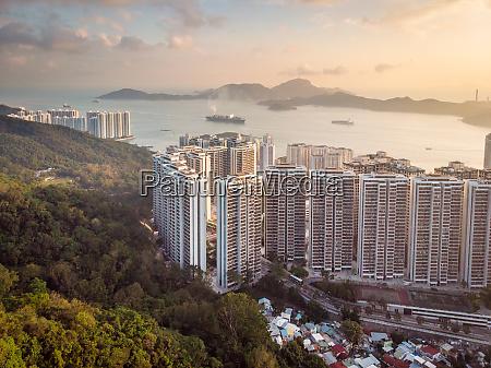 luftaufnahme von pokfulam village pokfulam hongkong