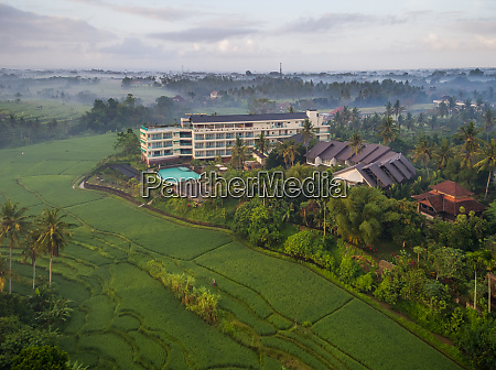 luftaufnahme des royal casa ganesha hotel
