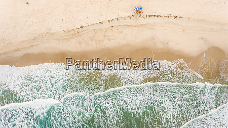 aerial view of friends alone on