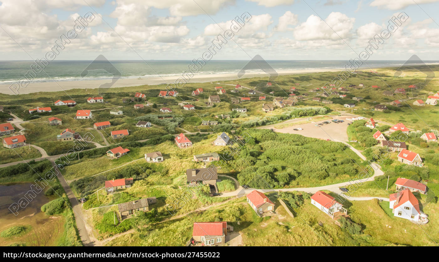 aerial, view, of, small, houses, on - 27455022