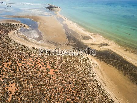 luftaufnahme des exotischen strandes im nationalpark