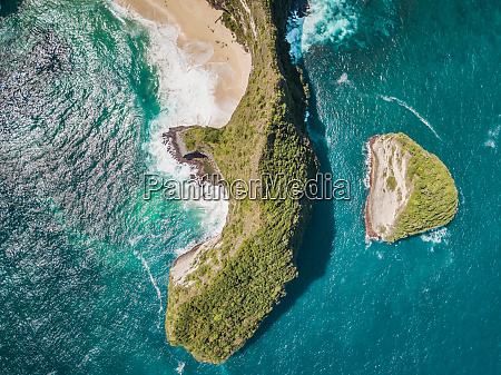 luftaufnahme der klippe in nusa penida
