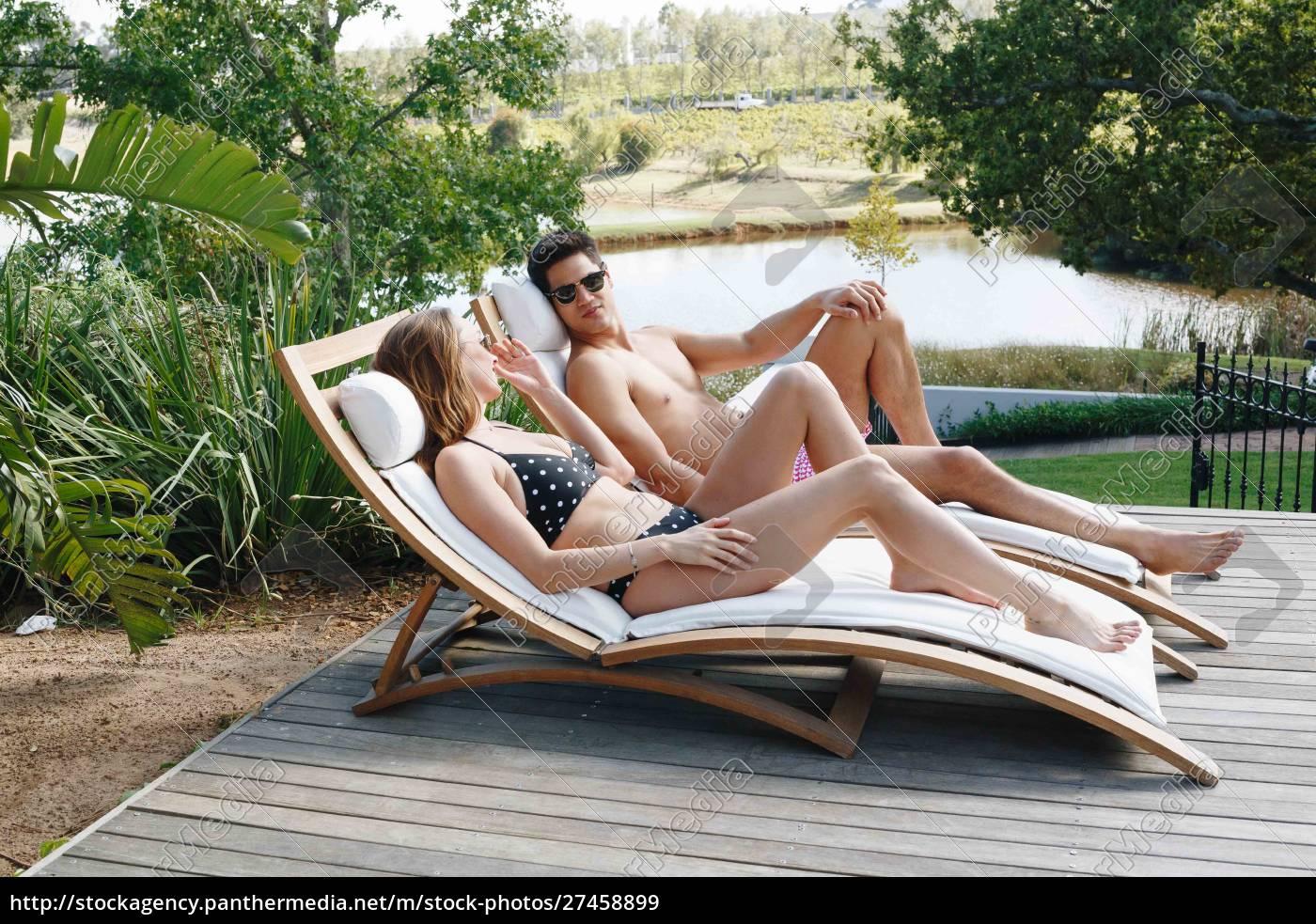 junges, paar, im, gespräch, und, entspannen - 27458899