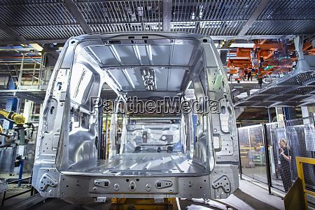 rear view of van body on