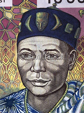 headman ein portraet aus alten westafrikanischen