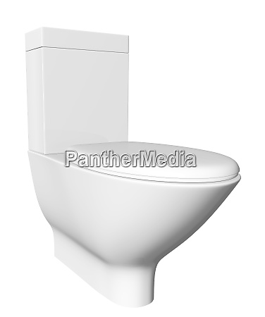 modern white ceramic and acrylic toilet